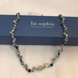 "Lia Sophia ""Happy Hour"" Crystal Necklace 18-20"""